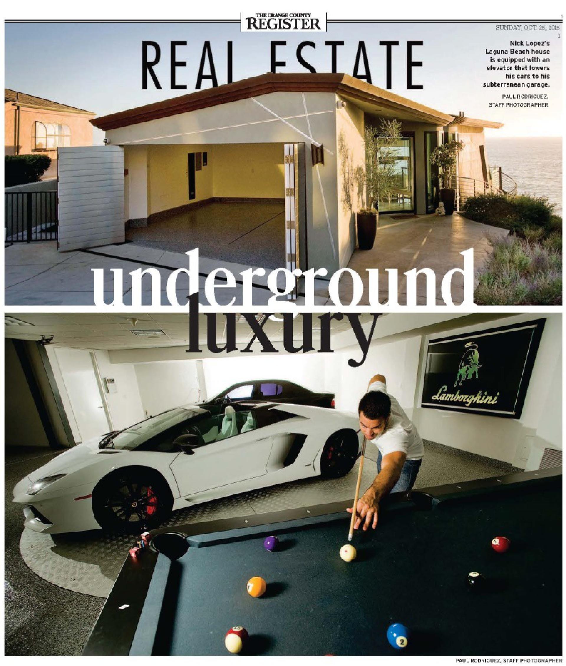 OC Register - Underground Luxury | Brion Jeannette Architecture
